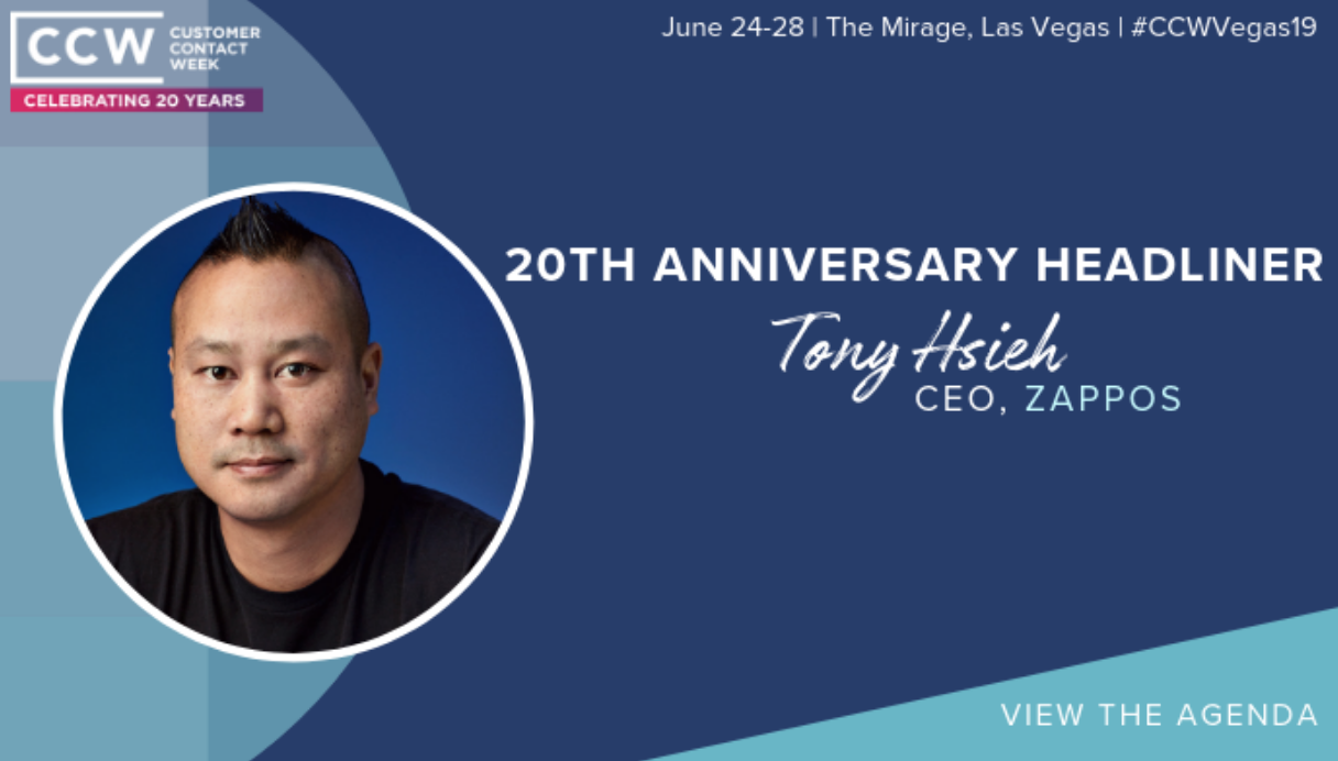 CCW 2019 TONY HSIEH ZAPPOS DELIVERING HAPPINESS SPEAKER