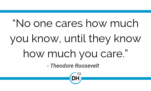 Theodore Roosevelt care empathy leadership quote