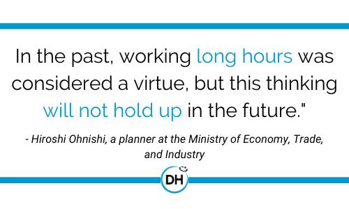 hiroshi ohnishi quote japanese working hours future