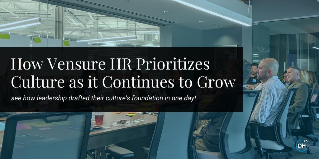 vensure hr leadership company culture blog post