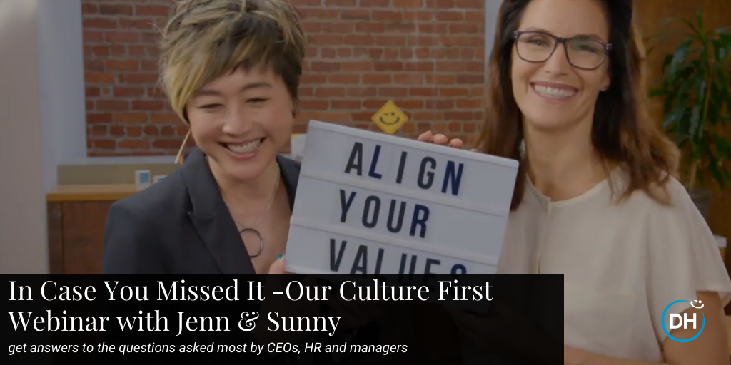 Prioritizing culture webinar with CEO Jenn Lim and Culture Chief Sunny Grosso