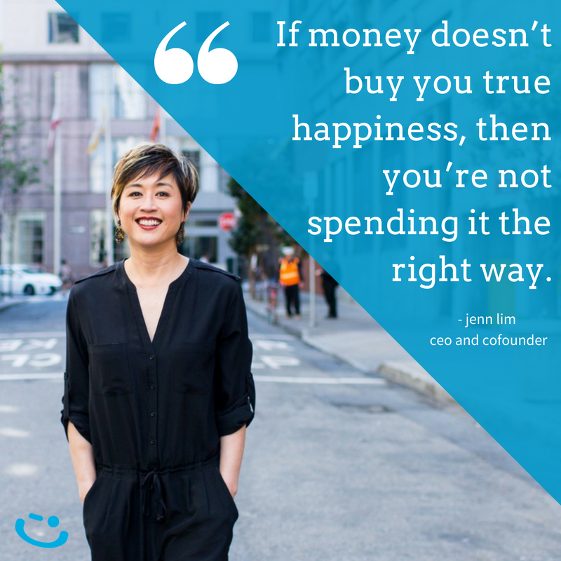 Jenn lim quote happiness money