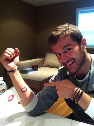 DH team member Carlos and his Winkey tattoo!