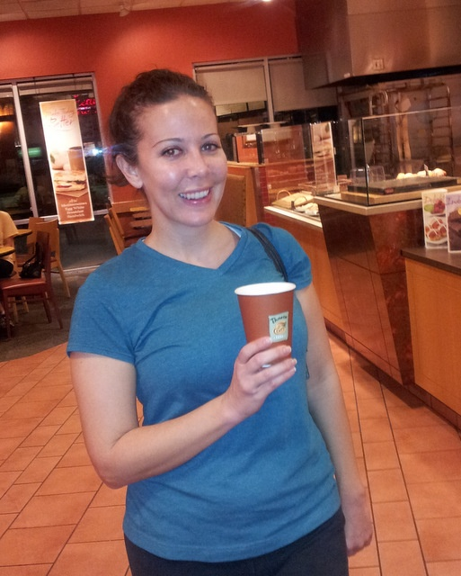 recipient of a free coffee