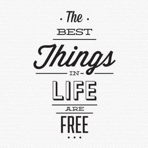 original_the-best-things-in-life-are-free-wall-sticker