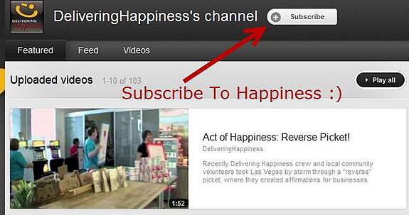 subscribe to happiness