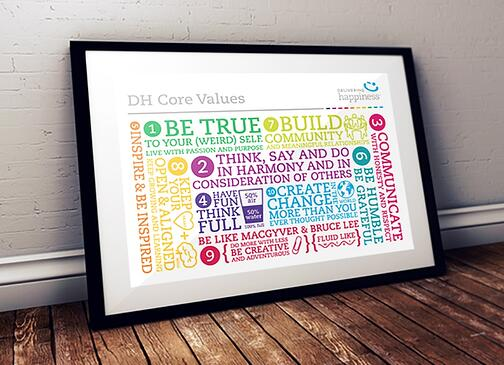 delivering happiness core values statement