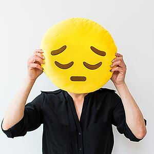 sad face disappointed emoji