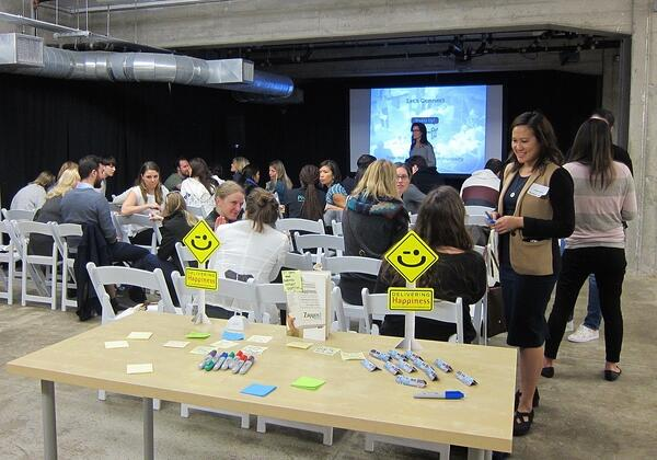 Co-facilitating a lunch & learn on Culture for Startups at Galvanize in San Francisco in 2016.