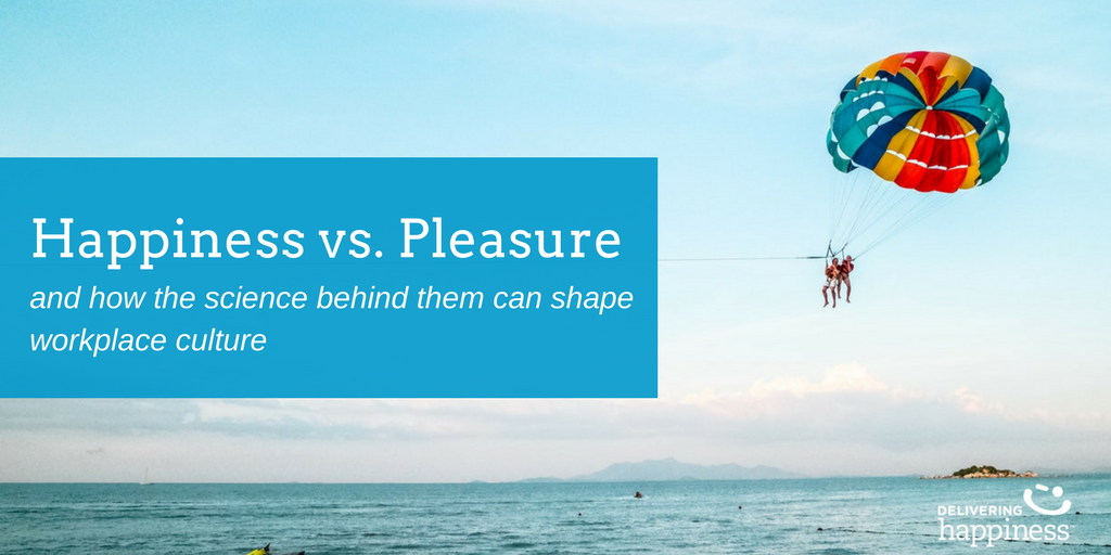 the difference between happiness and pleasure in organizational culture