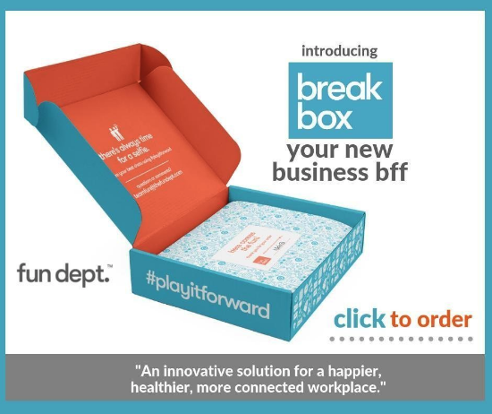 fun dept break box team building exercise kit